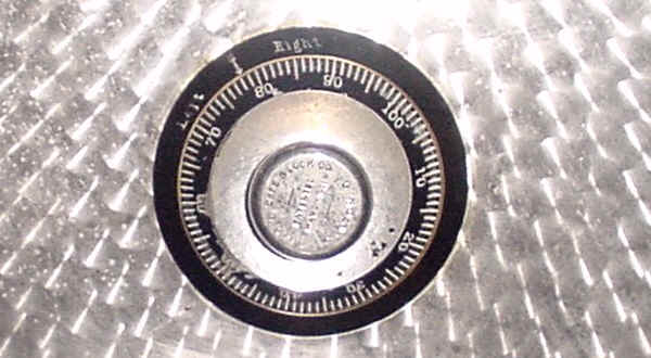 Cannonball Safe combination dial